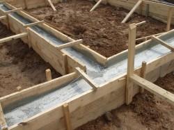 Заливка фундамента для зданий