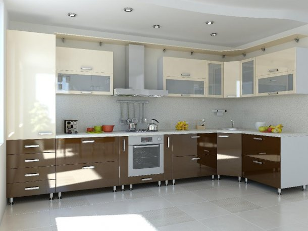Глянцевые кухни дизайн