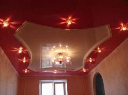 Шовные и бесшовные натяжные потолки