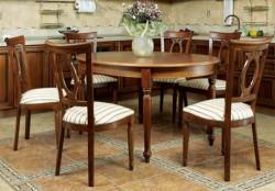 Сочетание кухонных столов и стульев