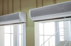 Защита проемов тепловыми завесами