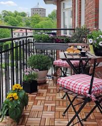 Интерьера балкона: озеленение