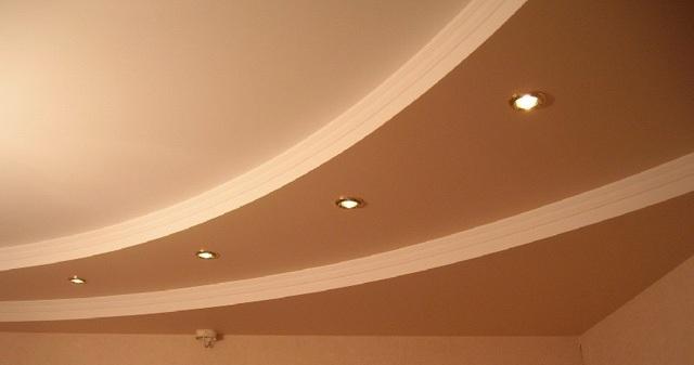 Потолок из гипсокартона своими руками фото зала