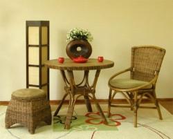 Положительные качества плетеной мебели