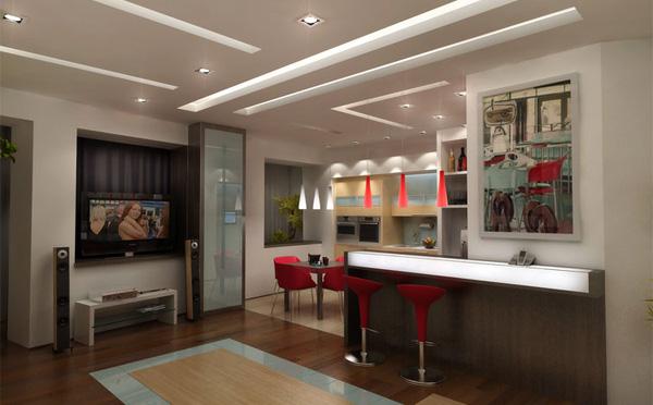 Дизайн кухни гостиной в хрущевке