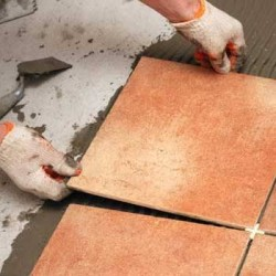 Порядок укладки напольной керамической плитки