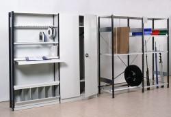 Металлические стеллажи для обустройства гаража