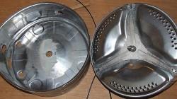 Демонтируем барабан стиральной машины