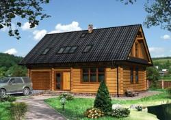 Как выполнить проект дома из деревянного бруса
