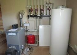 Монтаж отопительной системы загородного дома