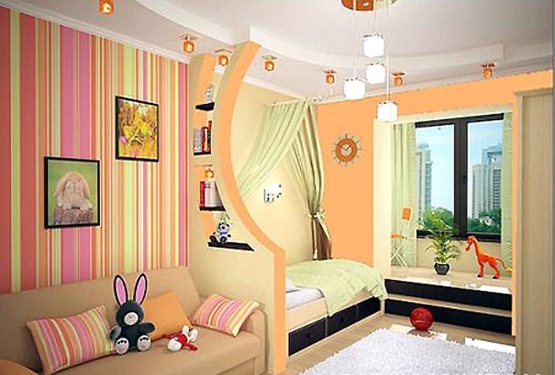 Оформить интерьер комнаты для ребенка