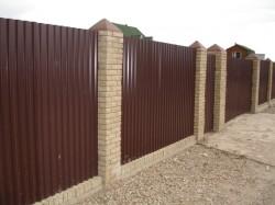 Как сделать металлический забор