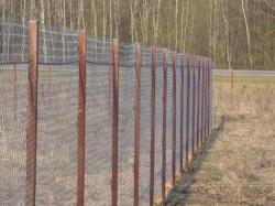 Как сделать забор из металлической сетки