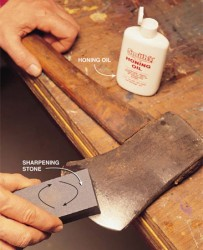 Как правильно заточить лезвие топора