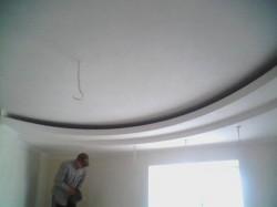 Как сделать фигурный потолок из гипсокартона?