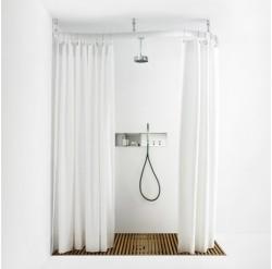 Варианты крепления штор в ванной