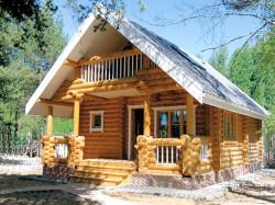 Как построить дом из оцилиндрованного бревна?