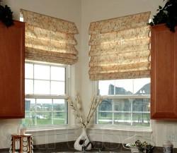Дизайн и виды римских штор