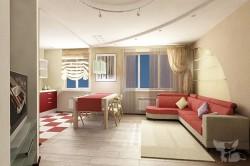 Правила оформления дизайна интерьера 3-комнатных квартир