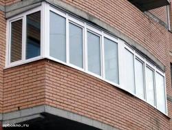 Остекление балкона с использованием ПВХ-окон
