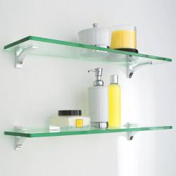 Особенности стеклянных полок для ванной