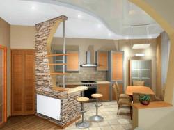 Как визуально разграничить пространство, если столовая и кухня связаны в одно целое