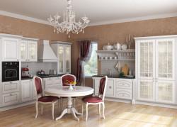 Декорирование кухонных белорусских гарнитуров - витражи и плени