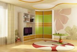 Особенности угловых шкафов для детских комнат