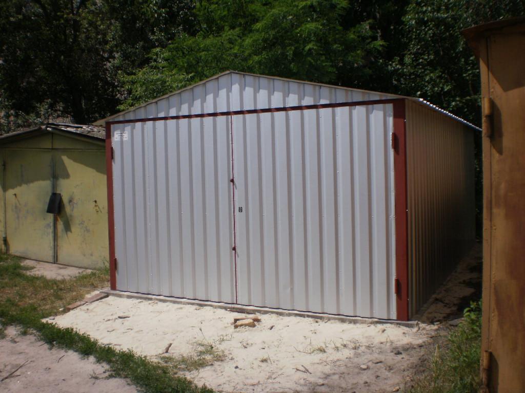 Как построить гараж из профиля своими руками фото