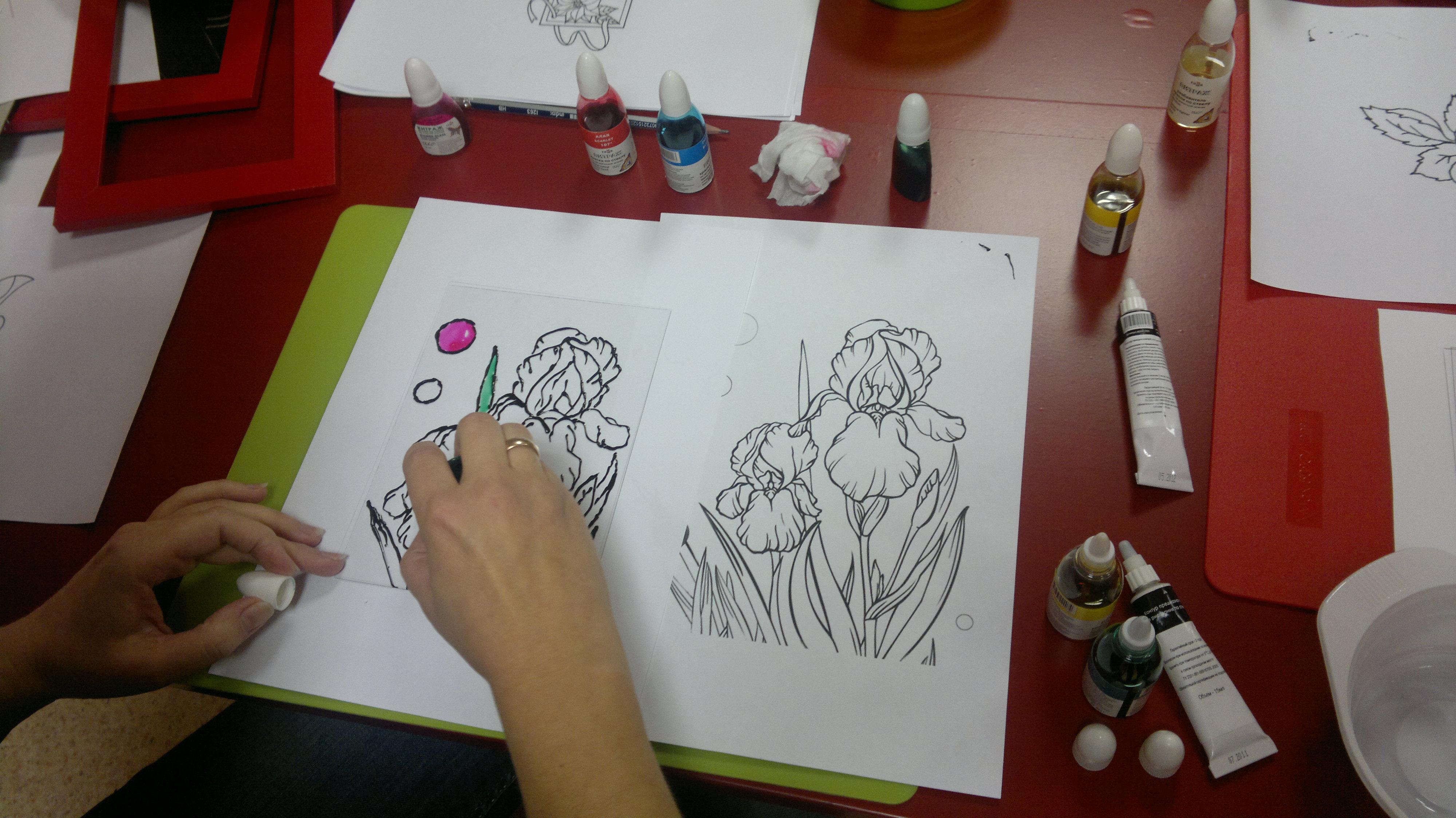 Витражные рисунки – произведение искусства своими руками