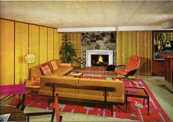 Интерьер квартиры в стиле 60-х годов