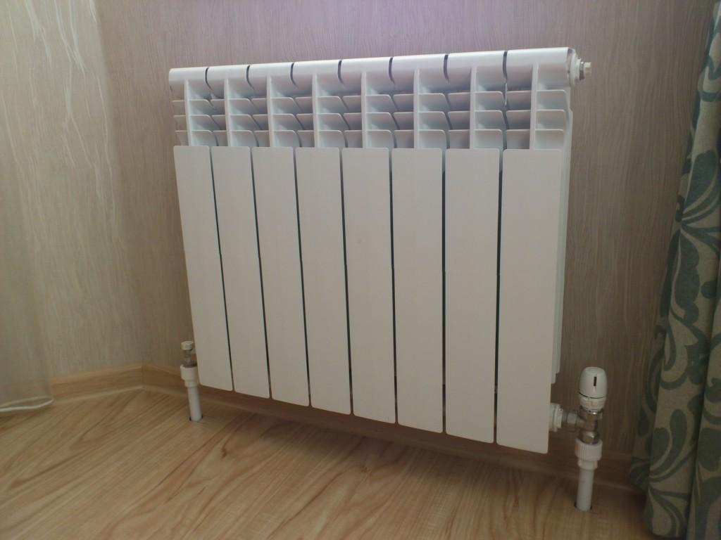 Установка алюмнивых радиаторов отопления