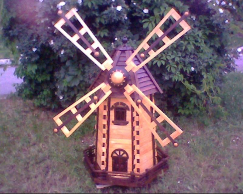 Этапы изготовления декоративной ветряной мельницы