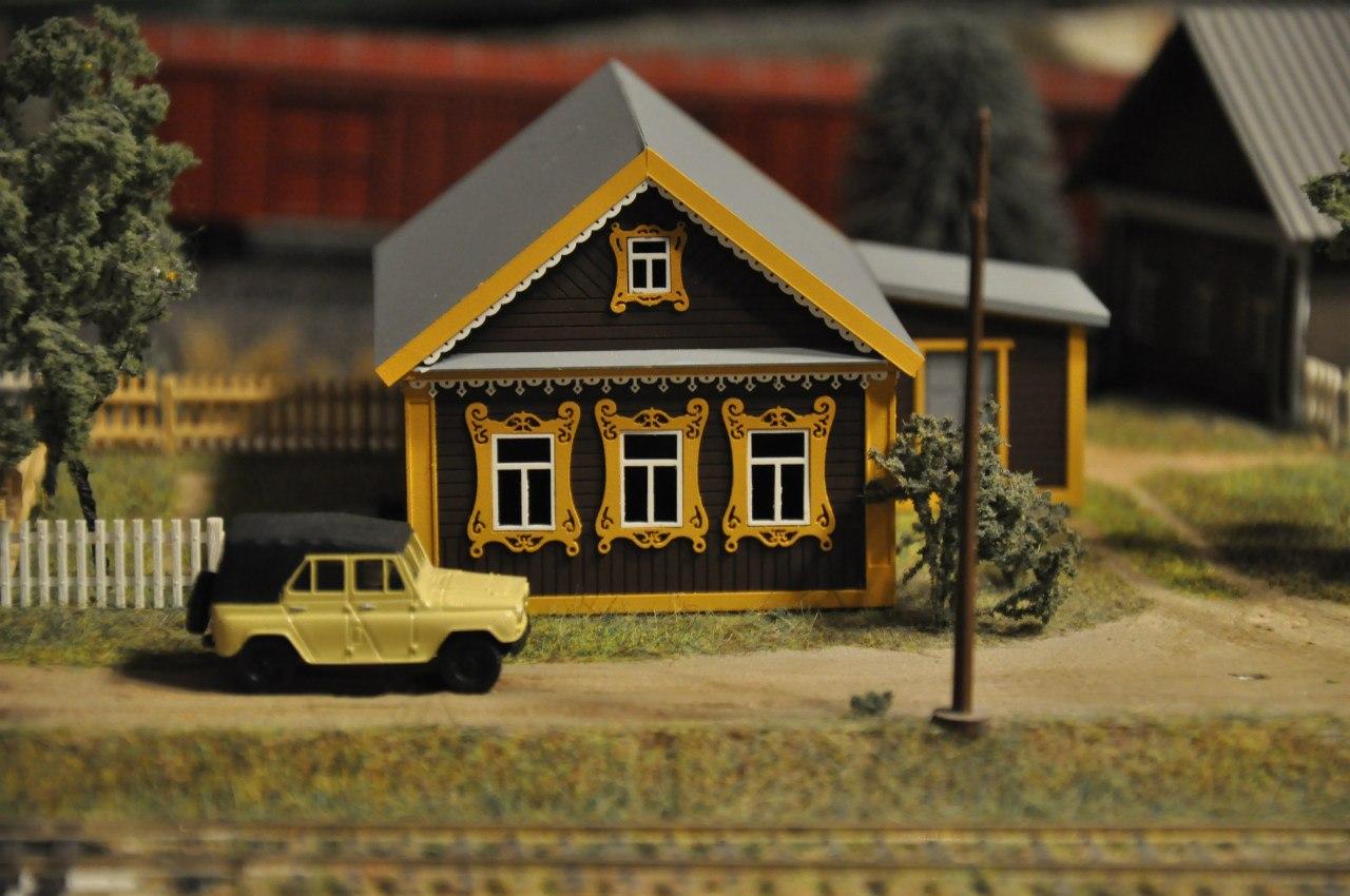 Деревенский дом макет своими руками