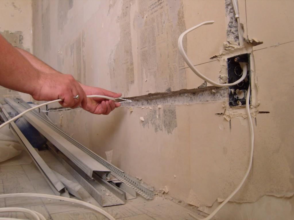 Обустройство проводки внутри дома
