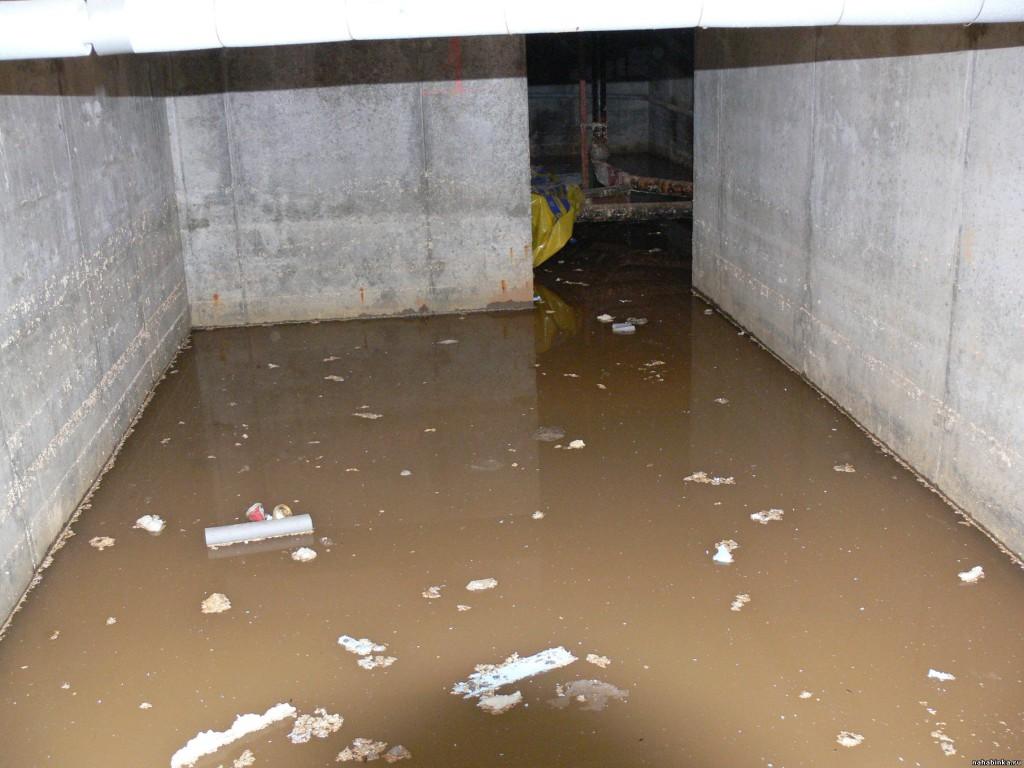 Что делать с водой в гараже?